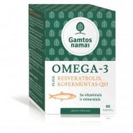 OMEGA - 3 Plius REVERATROLIS, KOFERMENTAS Q10