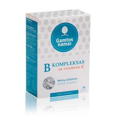 Vitaminų B komleksas su vitaminu C imunitetui, nervams