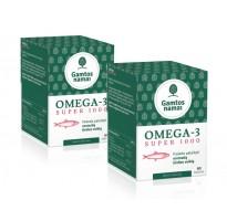 Žuvų taukai Super OMEGA-3 1000 x2