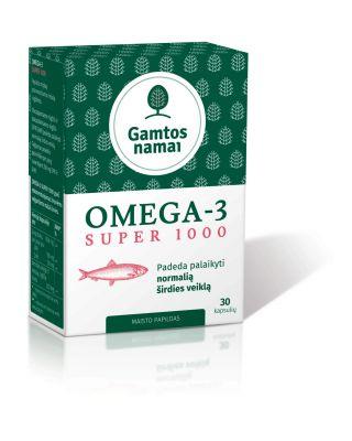 Super Omega-3 1000 Žuvų taukai