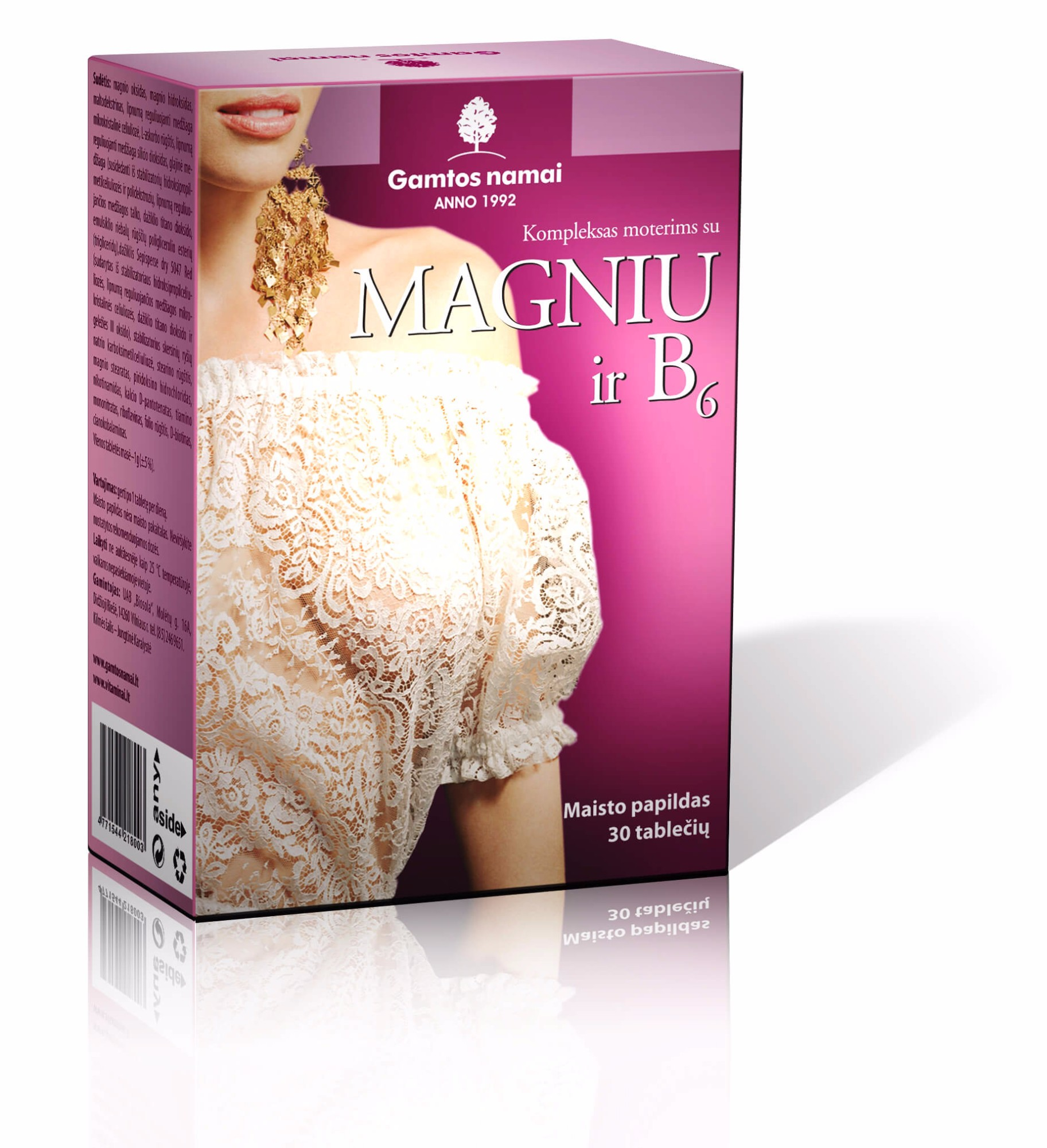 Vitaminų ir papildų Kompleksas Moterims  su  magniu