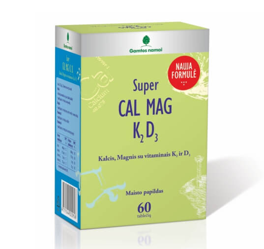 Kalcis, magnis, vitaminas K, vitaminas D