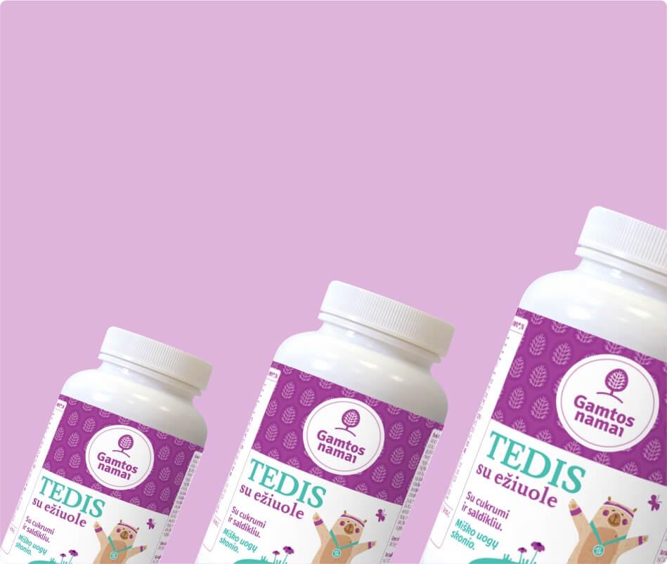 Vitaminai ir maisto papildai VAIKAMS TEDIS ežiuolė akcija pigiau -40% nuolaida