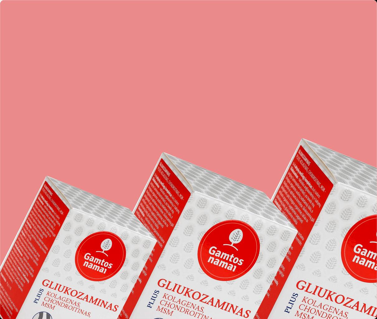 Vitaminai ir maisto papildai SĄNARIAMS GLIUKOZAMINAS CHONDROITINAS MSM KOLOGENAS akcija pigiau -40%